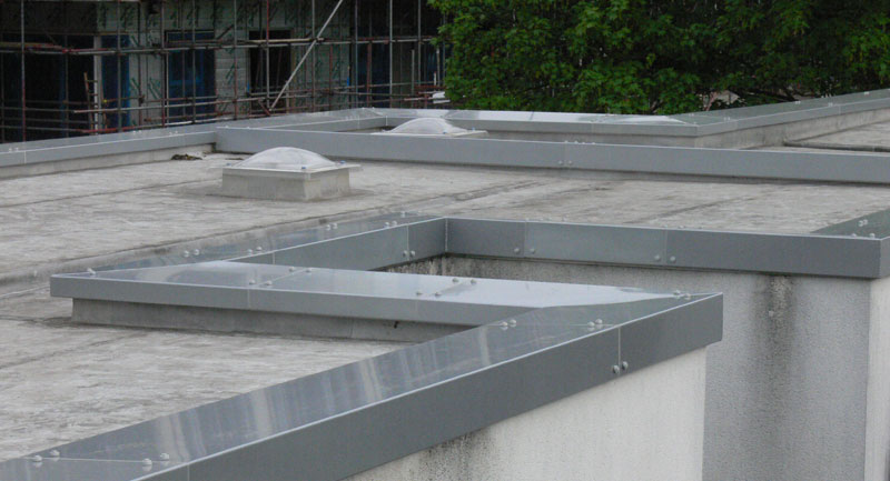 Aluminium capping for roofing with powder coated finish