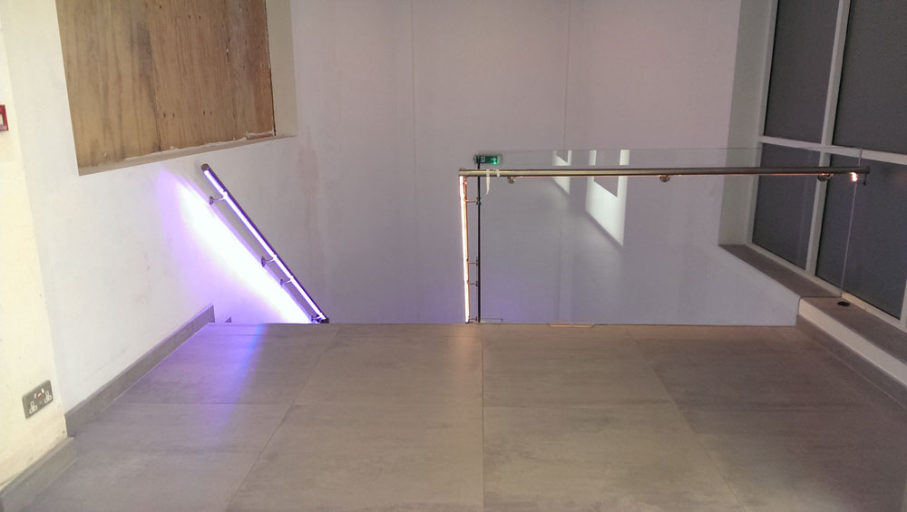 LED fitted handrail system